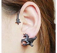 Earring Star Ear Cuffs Jewelry Women Wedding / Party / Daily / Casual Alloy 1pc Black