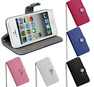 Luxury Diamond Bling Wallet PU Leather Case Cover for iPhone 5/5S(Assorted Colors)