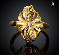18K Gold Plated Ring Rose Gold Plated Ring Midi Rings Wedding/Party/Daily/Casual/Sports 1pc