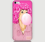 Pink Hair Girl Pattern Back Case for iPhone 6 Plus