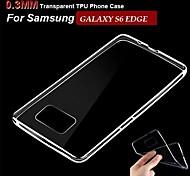 Celular Samsung - Samsung Samsung Galaxy S6 edge - Cobertura Traseira - Côr Única ( Branco , TPU )