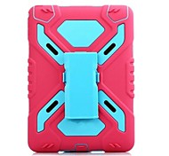 Shockproof Heavy Duty Case for ipad air2 Silicone Hard Case for ipad air2 Kickstand Cover for Apple iPad Air2