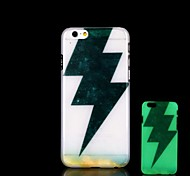 Lightning Pattern Glow in the Dark Hard Case for iPhone 6