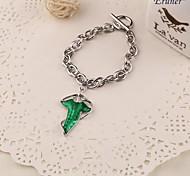 Eruner® The Lord of the Rings Fashion Alloy Oil Bracelet Fairy Bracelet Green Leaf Bracelet Green Leaves Bracelet