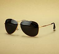 de los hombres polarizados de aleación aviador gafas de sol retro
