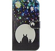 Cartoon PU Leather Full Body Wallet Protective Case with Stand for Samsung Galaxy S Advance I9070