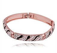Bracelets Rigides 1pc,Or Rose Bracelet Alliage / Strass / Plaqué Or Rose Bijoux Femme