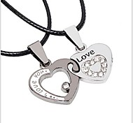 Tina -- Fashion Alloy Heart Couple Pendant in Daily