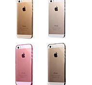 Super Flexible Clear Crystal Simple TPU Soft Transparent Back Cover Case for iPhone 5/5S(Assorted Colors)