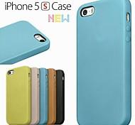 iPhone 5/iPhone 5S - Rückseiten Cover - Volltonfarbe/Spezial-Design/Neu (Rot/Schwarz/Grün/Blau/Braun/Beige , PU-Leder/Echtleder)