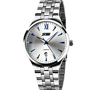 SKMEI® Men's Dress Watch Japanese Quartz Calendar/Water Resistant Stainless Steel Wristwatch