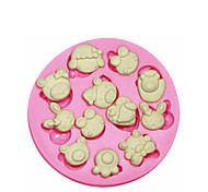 simpatico cartoon animali stampo in silicone torta stampo in silicone di decorazione per i gioielli fondente caramelle artigianali argilla
