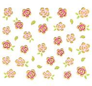 1PC 3D Nail Art Stickers Nail Wraps Nail Decals Gold Rose Floral Nail Polish Decorations