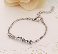 "New Fashion Jewelry ""best friend"" Letter Charm Bracelet For Women Ladies Wholeslae inspirational bracelets Christmas Gifts"