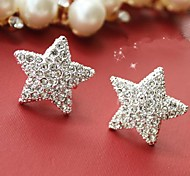 European Style Fashion Rhinestones Star Earrings