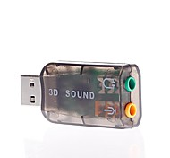 USB 5.1 Sound Card, Audio Card, Extraposition Separate Voice Card (Compatible with 7.1 Sound Channel)