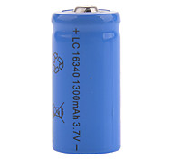 3.7V Rechargeable 1200mAh 16340 Lithium Ion  Battery