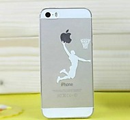 High Quality Ultra-Thin Transparent Cartoon Boys Basketball TPU Soft Case for iPhone 5/5S(Assorted Colors)