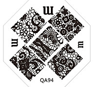 Nail Art Stamp Stamping Image Template Plate QA Series NO.94