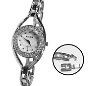 Frauen Damen Runde Legierung Armband Quarz Armbanduhr (farbig sortiert)