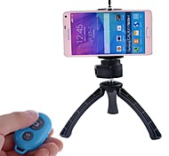 Camera Bluetooth Self-timer Remote Shutter Controller + Holder + Mini Tripod for IOS Android Cellphone(Assorted Color)