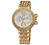 Women's Bracelet Quartz Analog Bohemian Quality Rhinestone Crystal Bangle wristwatches Sub-Dials