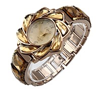 Women's Bracelet Watch Quartz Analog Bohemian Elegant Flower Case Rose Gold