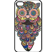 Flowery Owl Pattern Design Plastic Hard Case for iPhone 6
