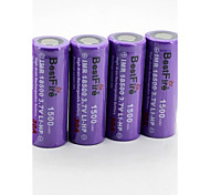 BestFire 18500 3.7V 1500mAh Rechargeable Battery(4Pack)
