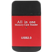 Compact All-in-One USB 2.0 SD / MMC / RS-MMC /Mini SD/TF/M2 Memory Card Reader (Assorted Colors)