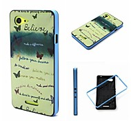 2-in-1 Believe Your Dream Phrase Pattern TPU Back Cover with PC Bumper Shockproof Soft Case for Xperia E3