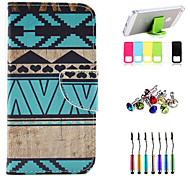 The Geometry Pattern Full Body Case with Stylus ,Anti-Dust Plug and Stand for iPhone 5/5S
