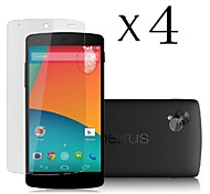 [4-Pack] High Transparency LCD Crystal Clear Screen Protector with Cleaning Cloth for LG Nexus 5/E980