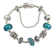 Women's Exquisite Floral Pattern Rhinestone Beads Wrist Chain Bracelets