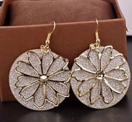 2015 Fashion Multi-Level Hollow Flowers Frosted Earrings