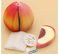 Fruit Peach Shaped Paper Self-Stick Note
