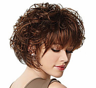 The New European And American Short Brown Curly Wig