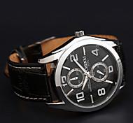 Chenxi cinturino in pelle di business classico orologio al quarzo impermeabile