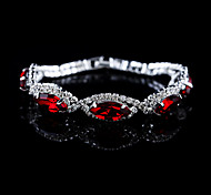 Chaînes & Bracelets / Bracelets Rigides / Bracelets en Argent 1pc,Rouge / Bleu Bracelet Cristal / Alliage / Strass Bijoux Femme / Couple