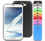Para Samsung Galaxy Note Ultrafina Funda Cubierta Trasera Funda Un Color TPU Samsung Note 2