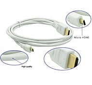 HDMI Micro To HDMI Male Cable Version 1.4 HD - White