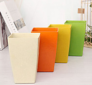 """6.3 """"h estilo moderno vaso de plástico vaso retangular multicolor opcional"""