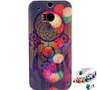 Campanula Pattern TPU Back Cover Case and Dust Plug for HTC One(M8)