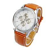 Women's Men's Big Dial Charm Watch Quartz Analog Bohemian Sub-Dials