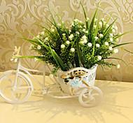 """11 """"l 28 cabezas de flores de plástico artificial stinkgrass"""