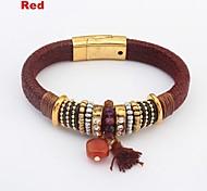 Women's Ethnic Layers Beads Circles Cluster Wrist Chain Bracelets