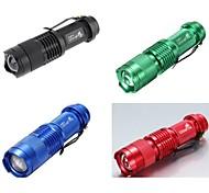 LS300 CREE XRE Q5 300lm 1-Mode Mini LED Flashlight (4 Random Color Red Green Blue Black 1X14500)
