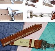 24 milímetros boa banda de couro genuíno relógio unissex (cores sortidas)