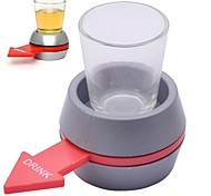Plastic Drinking Game Spinning Wheel + Glass Set