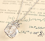 Fashion Lucency Gift Letter Silver Alloy Pendant Necklace(1 Pc)